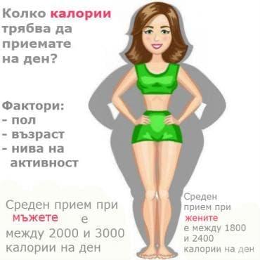 Колко калории трябва да приемаме на ден? - изображение