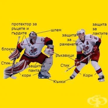 Екипировка за хокей на лед - изображение