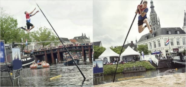 Прескачане на канали с дълъг прът – най-старият екстремен спорт в Холандия - изображение
