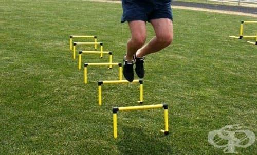 Плиометрични подскоци над препятствия - изображение