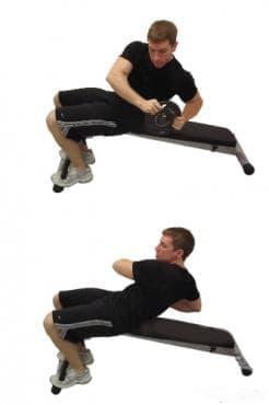 Извиване в кръста за косите коремни мускули - изображение