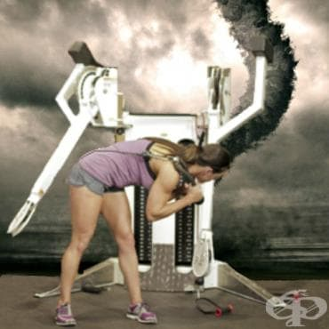 Джудо премятане на долен скрипец за коремна мускулатура - изображение