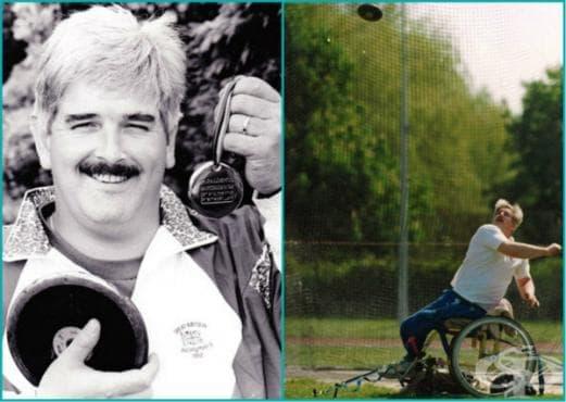 От ъгълът на игрището до председателското място на фондацията за инвалиди занимаващи се със спорт - изображение