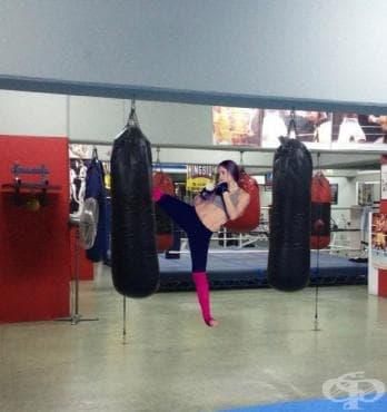 Кикбокс кардио тренировка на тежка боксова круша - изображение