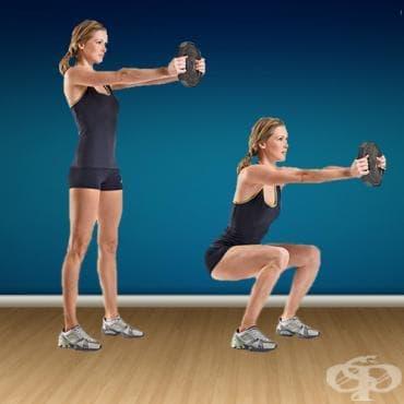 Клекове с тежест пред тялото - изображение