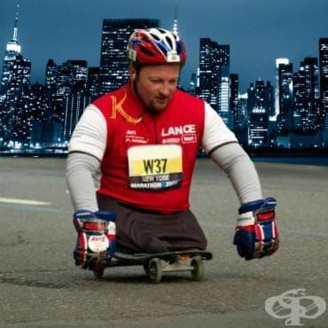 Легендата Ланс Бенсън – маратонецът без крака - изображение