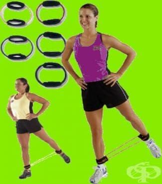 Тренировка с кръгъл ластик за разтягане - изображение