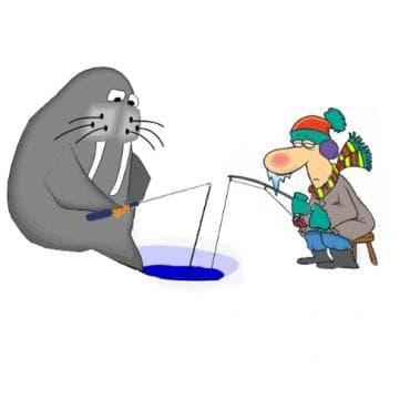 Риболов на лед - изображение