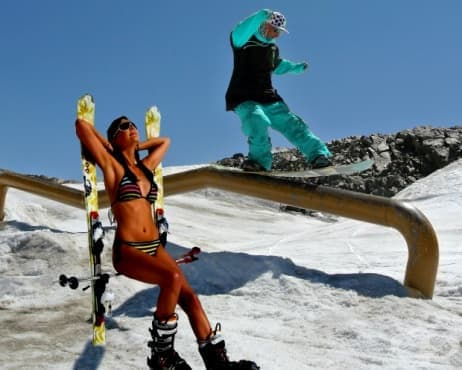 Най-добрите места за ски през лятото в Европа - изображение