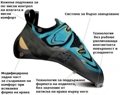 Обувки за скално катерене - изображение
