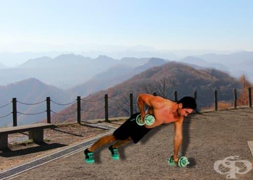 Ренегатско гребане – едно упражнение за цялата горна част на тялото - изображение