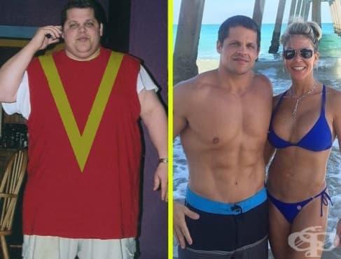 Мъж отслабна по естествен начин с 89 килограма, за да спаси живота си - изображение