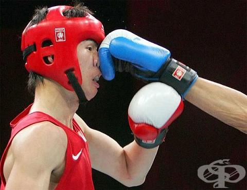 Счупване на носа в спорта - изображение