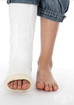 Счупване костите на подбедрицата при спортисти - изображение