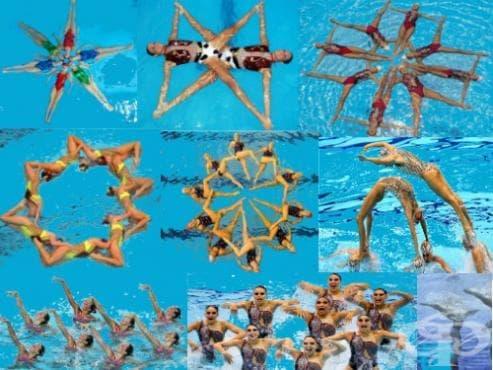 Синхронно плуване - изображение