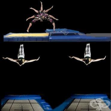 Скокове на батут - изображение