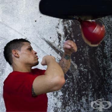 Кардио тренировка на бърза боксова круша за мускулна издръжливост - изображение