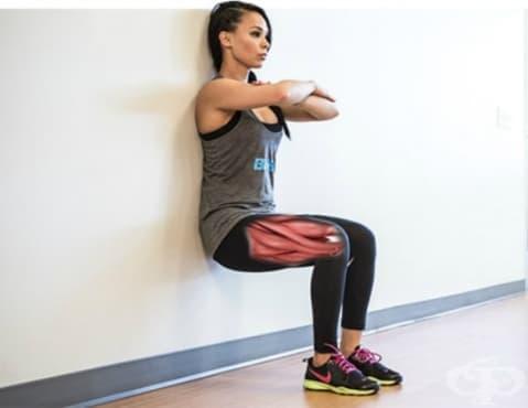 Тест за силата на краката – въздушен стол - изображение