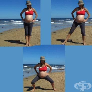 Упражнения за бременни: Странични клекове - изображение