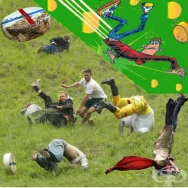 Търкаляне на сирене от хълма Купър - изображение