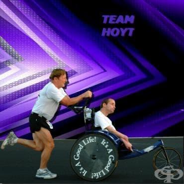 Рик Хойт – церебралната парализа не е пречка за покоряването на надпреварата Ironman - изображение