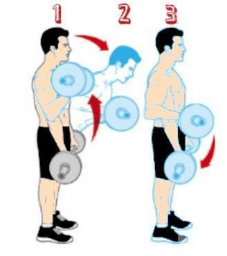 Сгъване с щанга с наклони на тялото - изображение
