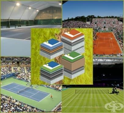 Настилки на тенис кортовете - разликите - изображение