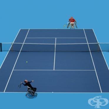 Тенис с инвалидни колички - изображение