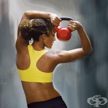 Тонизиране на мускулите с пудовка - изображение