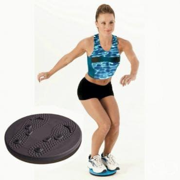 Коремни упражнения на въртящ диск - изображение