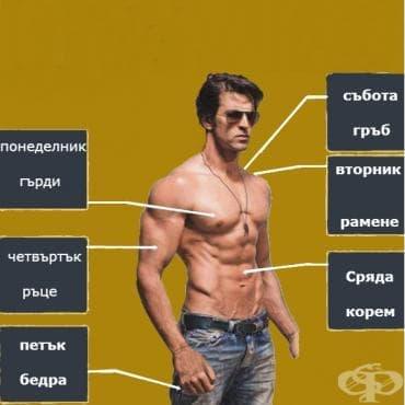 5-дневна тренировъчна програма за изключителен мускулен релеф - изображение