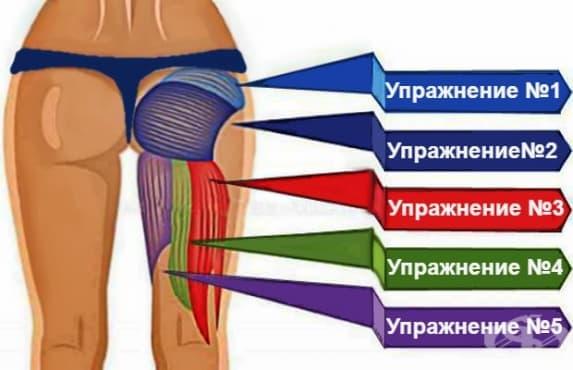 Домашна тренировка за стягане и оформяне на задната част на бедрата и дупето - изображение