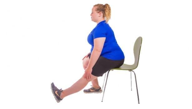 7 лесни упражнения при болки в колената за хора с наднормено тегло - изображение