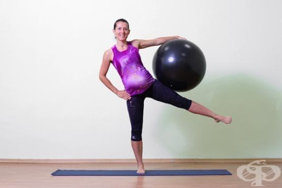 Упражнения за бременни с фитбол топка (ниво напреднали)  - изображение