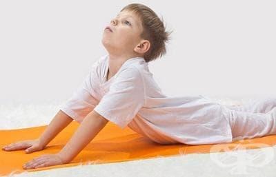 Упражнения за деца при кифоза - изображение