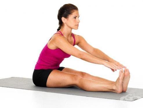 Упражнения за разтягане за мускулите на краката - изображение