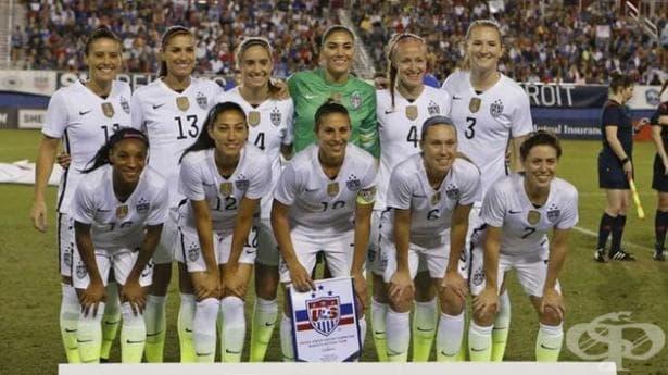 Дискриминационен скандал с женския футболен тим на САЩ - изображение