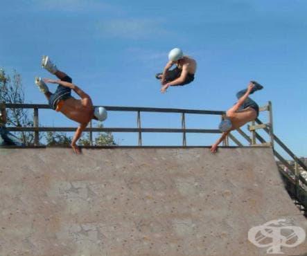 Вертикално пързаляне с ролери - изображение