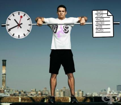 Времево обусловените тренировъчни серии срещу базираните на броя повторения - изображение