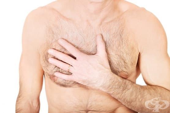 Болка в областта на гърдите при мъже - изображение