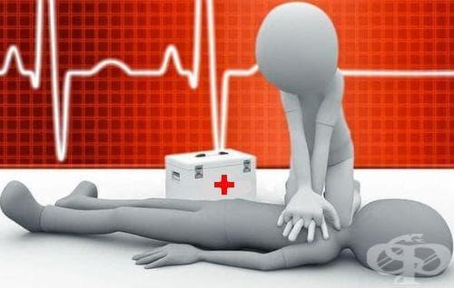 Оказване на първа помощ - кардиопулмонална ресусцитация - изображение